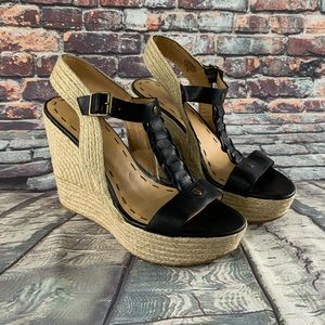 Nine West Keenster T-Strap Wedge Shoes  women's 8